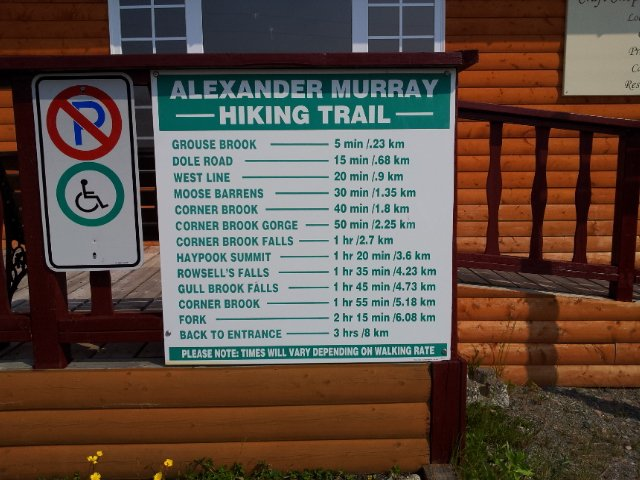 Trail Sign, Alexander Murray Trail