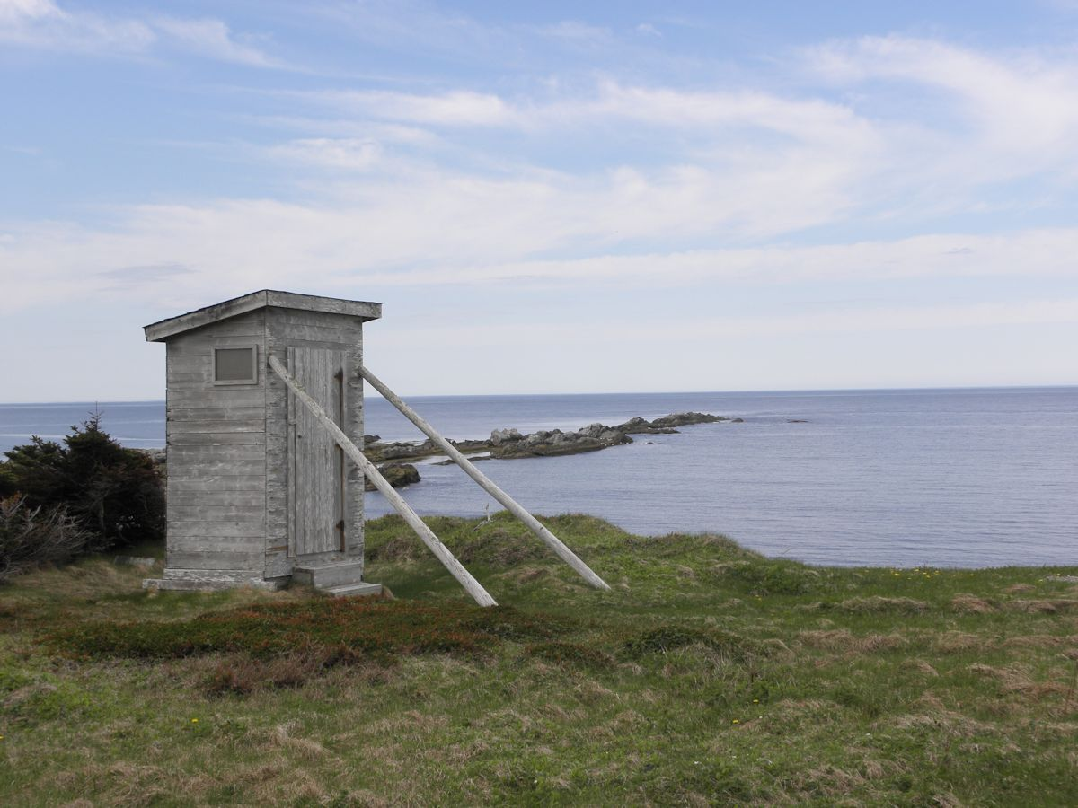 Outhouse at Broom Point Fishing Premesis