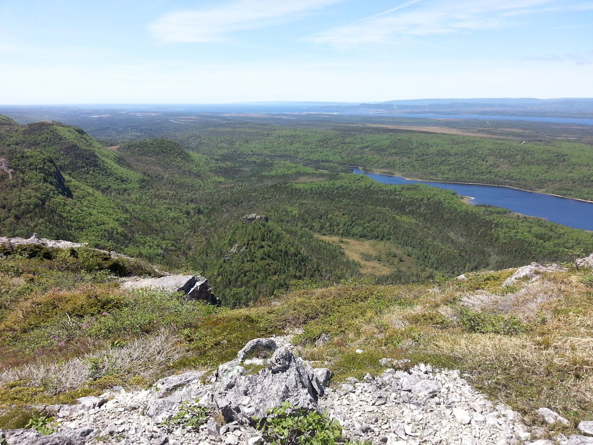 View from Erin Mountain of Bay St. George and Gulf of St. Lawrence