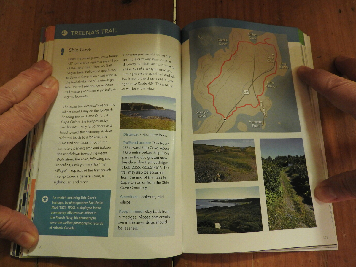 Hikes of Western Newfoundland, detailed maps