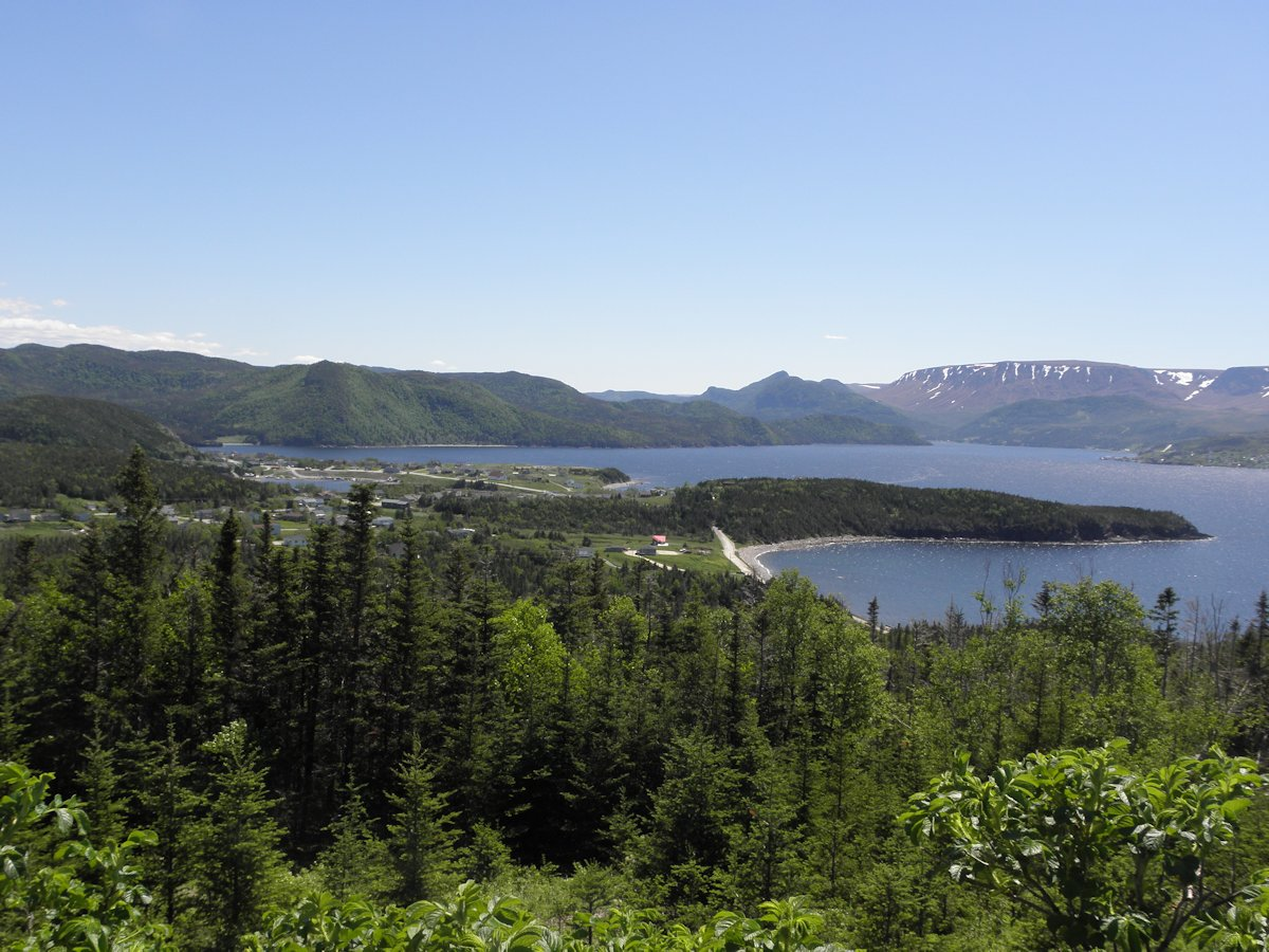 View of Norris Point from Jenniex House, Gros Morne, NL