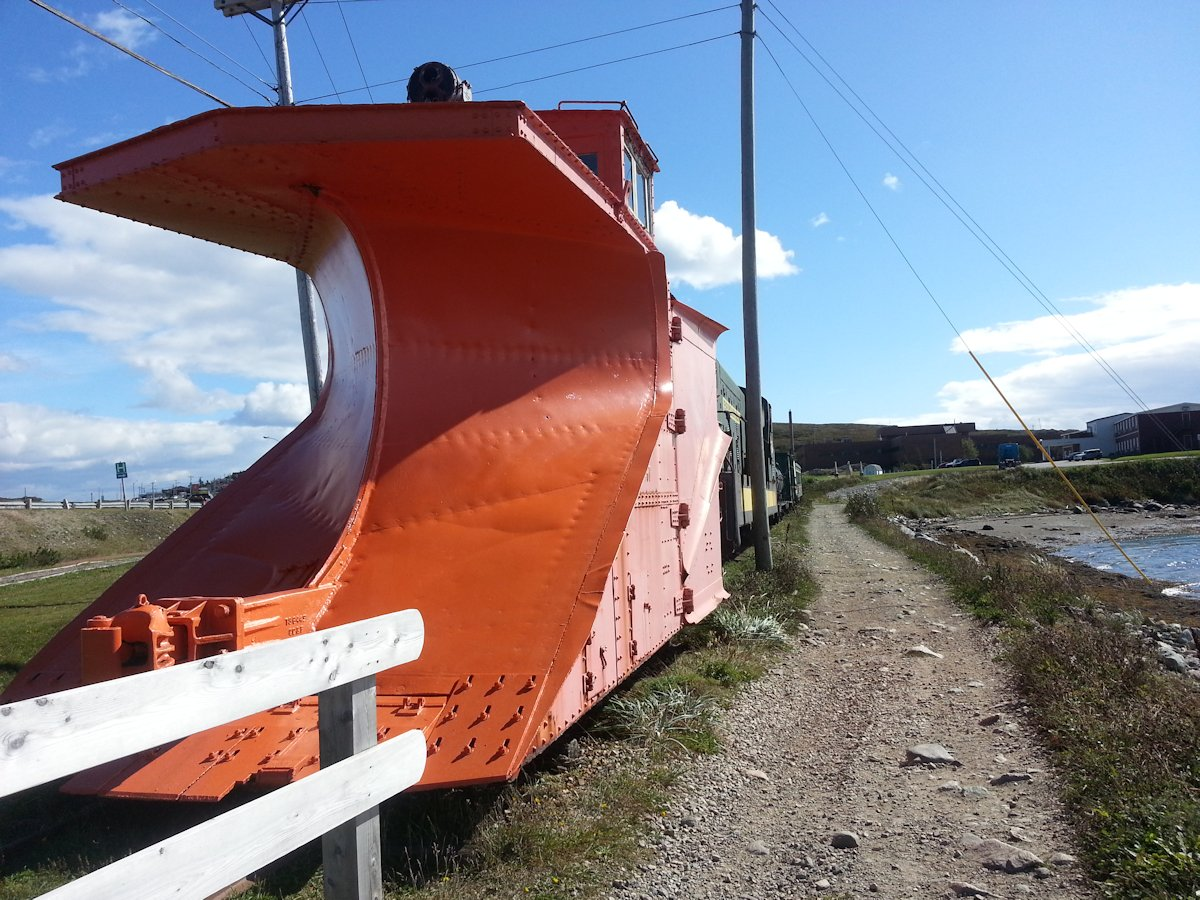 Narrow Gauge Railway Snow Plow, Port aux Basques, Newfoundland