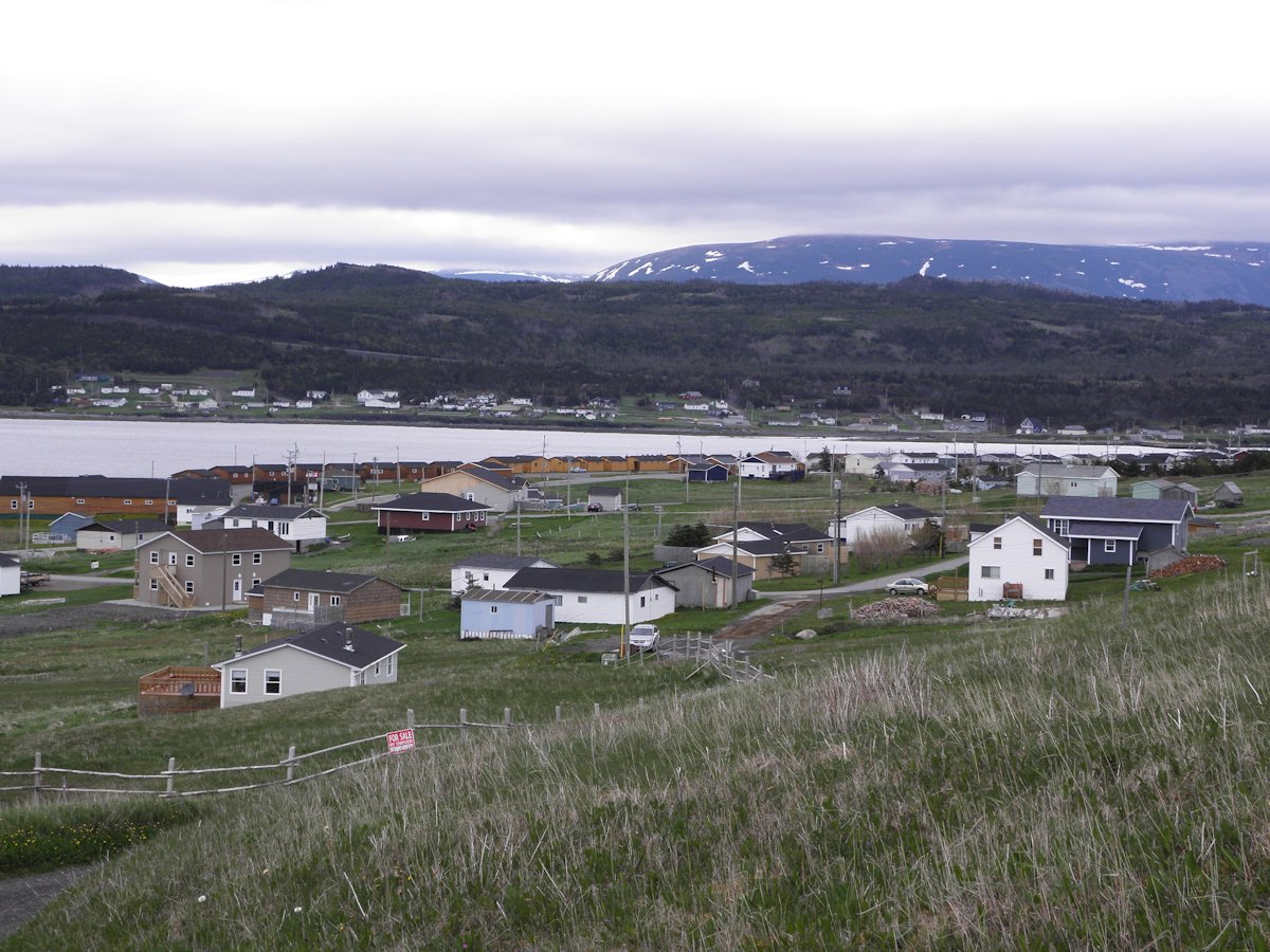 View of Rocky Harbour & Gros Morne Mountain