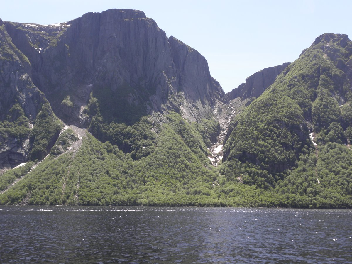 Rock Slides, Western Brook Pond, Gros Morne National Park